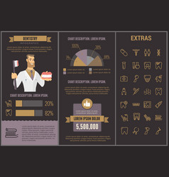 Dentistry infographic template elements and icons vector