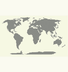 dotted world map world map vector image