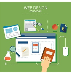 Education website development project design conce vector