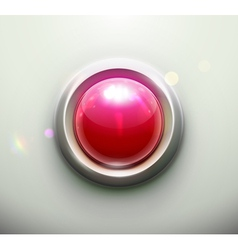 emergency button vector image