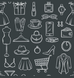Fashion sale seamless pattern vector