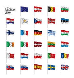 flags european union vector image