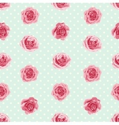 flower seamless pattern with roses vector image