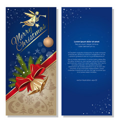 flyer template for christmas and new year vector image