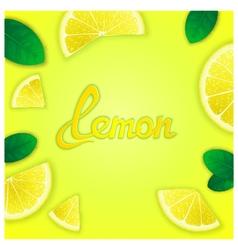 Fruity lemon background vector