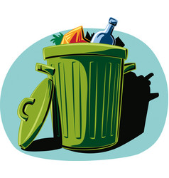 Garbage can filled vector