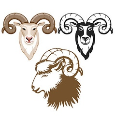 Goat set vector