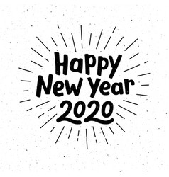 happy new year 2020 typography vector image