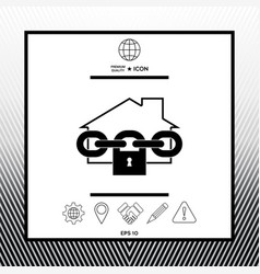 Home lock icon vector