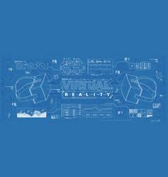 hud ui for virtual reality glasses futuristic vector image