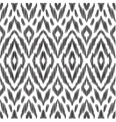 Ikat seamless pattern design for fabric vector
