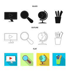 isolated object education and learning symbol vector image