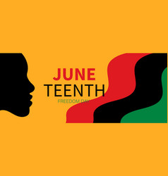 juneteenth independence day freedom vector image