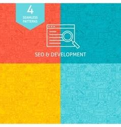 Line SEO Development Patterns vector