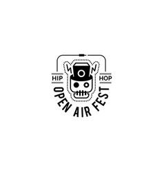 Logo badge for music festival vector