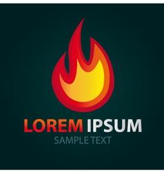 Logo Fire abstract icon vector