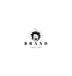 Logo on which abstract image a lion vector