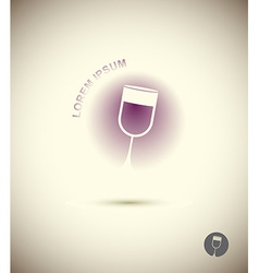 Logo wine glass Concept icon for sommeliers wine vector image vector image