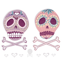 Mexican sugar skull set vector