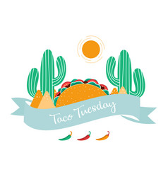 mexican tacos poster vector image