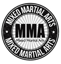 mma mixed martial arts grunge rubber stamp vector image