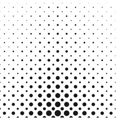 Monochrome halftone circle pattern background vector