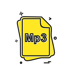 Mp3 file type icon design vector