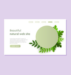 natural green landing page template in a paper vector image