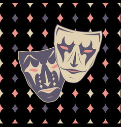 New pattern 0221 theatrical mask vector