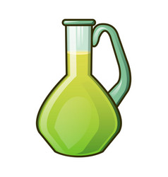 olive oil glass jar icon cartoon style vector image