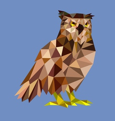 Owl low polygon vector