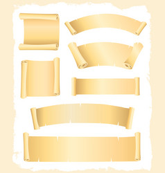 Parchment scroll and banners vector