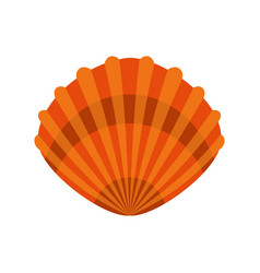 pearl shell icon flat style vector image