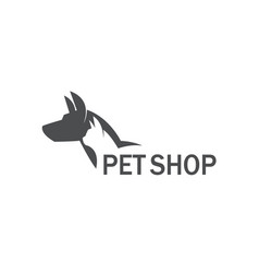 Pet shop label vector