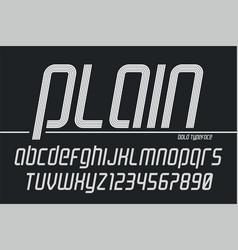 plain display font popart design alphabet vector image