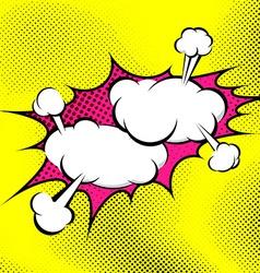 Pop art bubble collision abstract retro background vector image