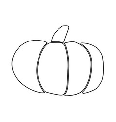 Pumpkin black color icon vector