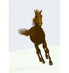 Race horse vector