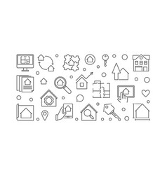 real estate business outline horizontal vector image