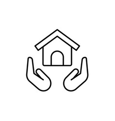 Real estate house insurance save home icon vector