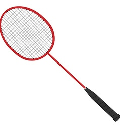 Red badminton racket vector image
