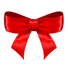 Red silk ribbon bow vector