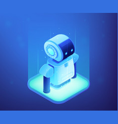 robotics technology concept isometric vector image