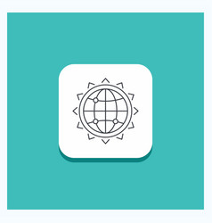 round button for world globe seo business vector image