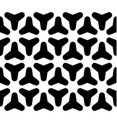 Seamless pattern smooth geometic figures vector