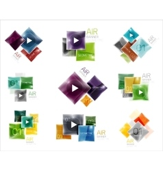 Set of square web boxes vector image