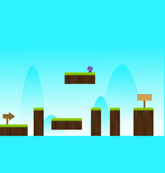 Sky nature game background style vector