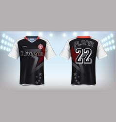 Soccer jersey mockup template vector