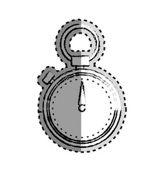 Sticker monochrome blurred of chronometer vector