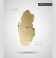 Stylized qatar map vector